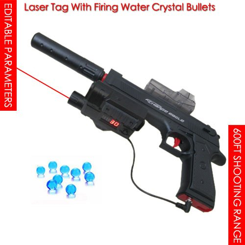 - 600FT Laser Tag with Firing Water Crystal Bullet,Live PUBG Game,IR Lazer Battle Laser tag Gun Laser tag Set