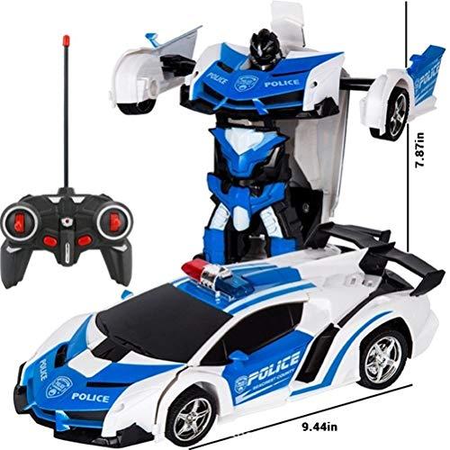 Egosy RC Transformer Robot Car para niños Transform Robot Remote Control Car Toy RC Car Remote Control Transformación de…
