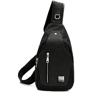 [ユーワイバッグ] ボディバッグ メンズ USB充電ポート 付き ボディーバッグ uybag04 (01.ダークグレー)
