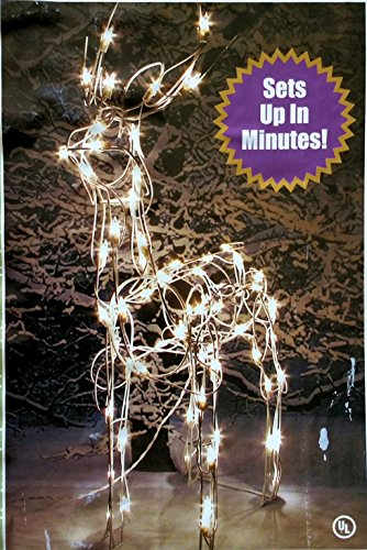 Outdoor Lighted Deer Sculpture - 9