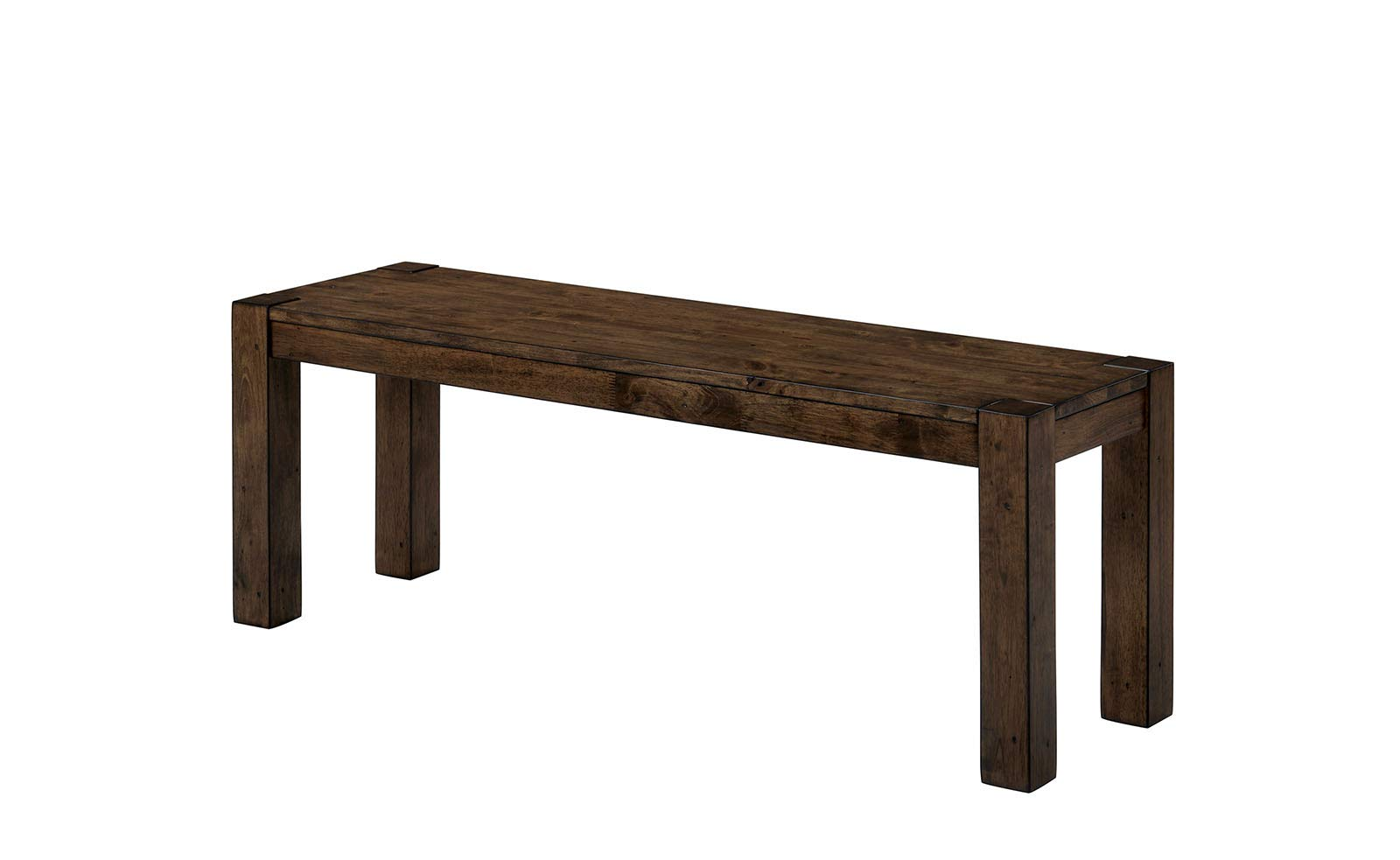 Benjara, Brown Benzara Wooden Bench With Trestle Style Base And Block Legs by Benjara