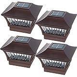 GreenLighting Bronze Aluminum Solar Post Cap Light 4x4 Wood & 6x6 PVC (4 Pack)