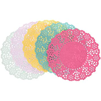 Nice Talking Tables Floral Fiesta Disposable Doilies For A Tea Party, Birthday  Or Luau Party,