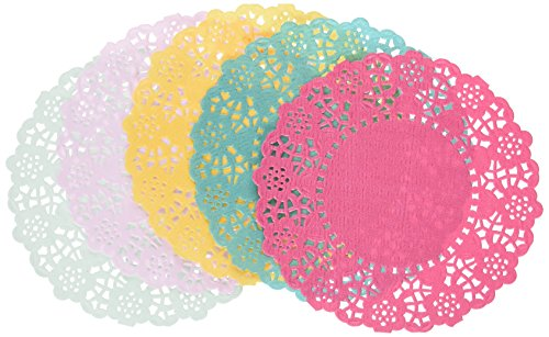 paper doilies colored - 1