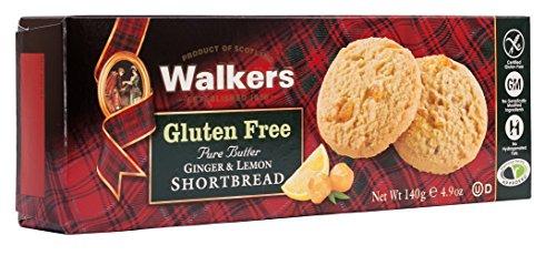 (Walkers Shortbread Gluten-Free Pure Butter Ginger & Lemon Shortbread, 4.9 Ounce Box (Pack of 6) Simple Pure Butter Gluten Free Shortbread Cookies from the Scottish Highlands)