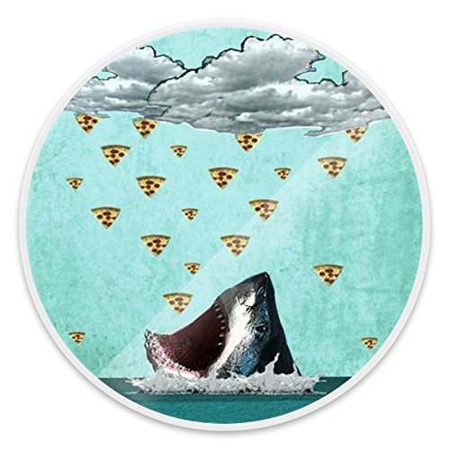 Expanding Stand and Grip for Smartphones and Tablets, Multi-Function Mounts and Holder, Pop Mount Holder Socket for Cell Phones - Pizza Rain For Shark White