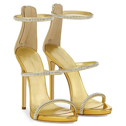 Or Hauts Chaussures 2 De Rose Or Diner Mode De Sandales Talons Taille Diamant Chaussures À Chaud Grande AHFUqx