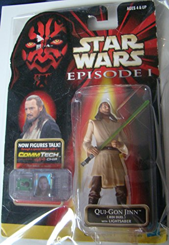 Star Wars Episode I with CommTech Chip - Qui-Gon Jinn - Jedi (Star Wars Figure Commtech Chip)