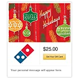 Dominos Happy Holidays - Ornaments Gift Cards - E-mail Delivery