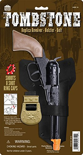 Parris Tombstone Toy Cap Gun Revolver