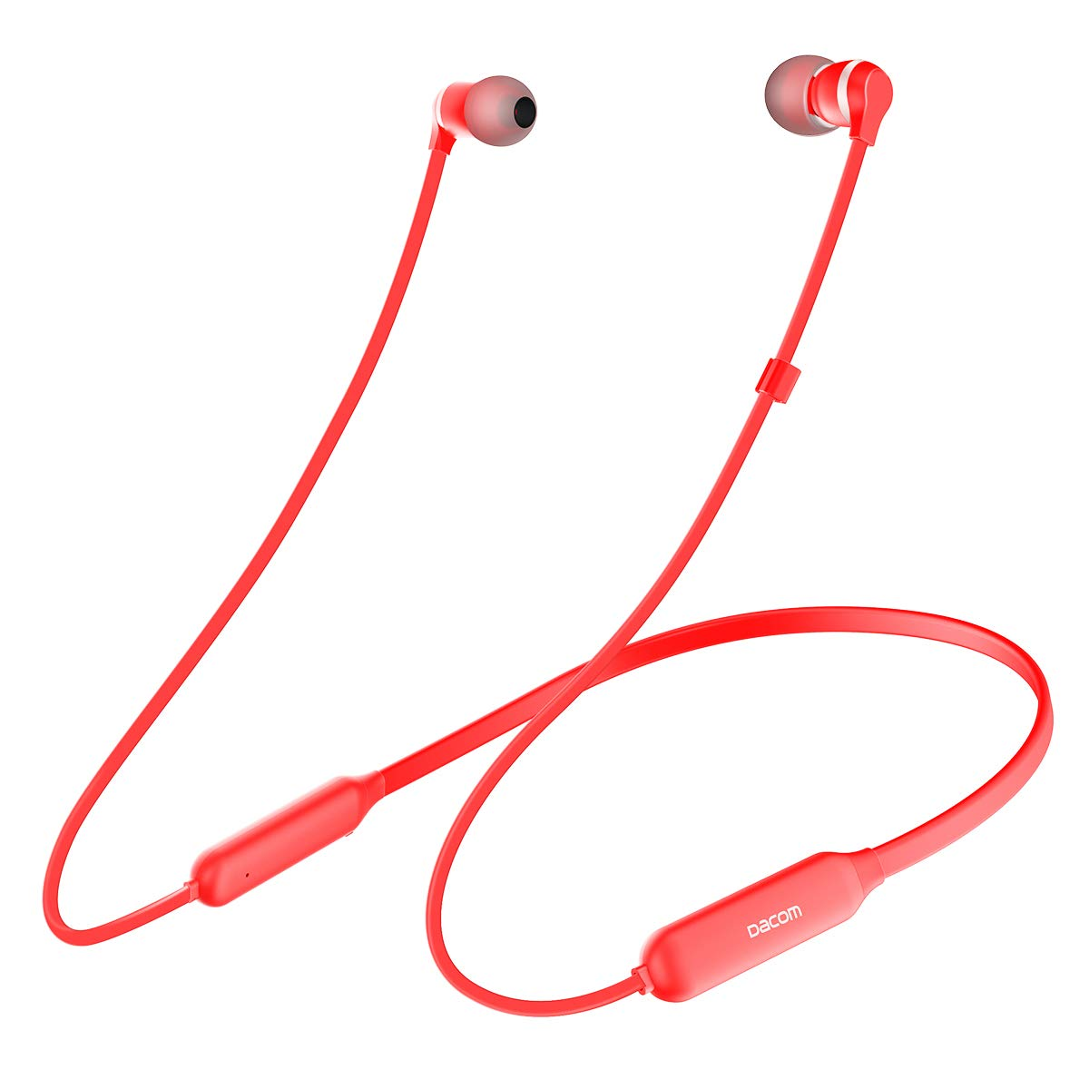 DACOM L06 Wireless Earphones Stereo Hi-Fi Bluetooth Headphones Metal Dynamic Graphene Neckband Magnetic CSR Chip with APT-X Headset for iOS and Android Cellphone red