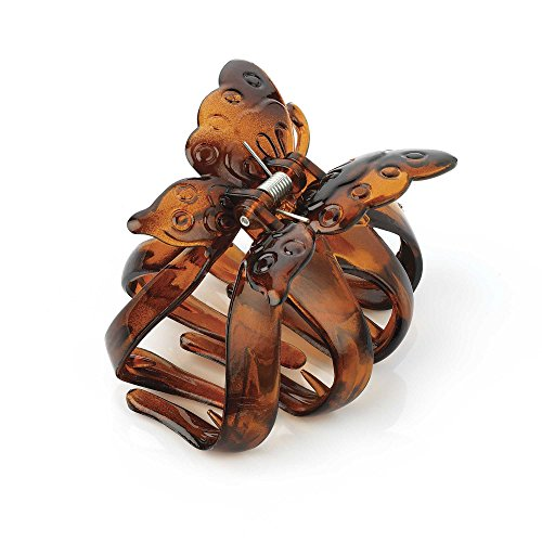 Tortoise shell effect butterfly hair claw clip by B&F