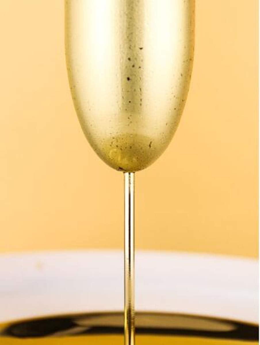 senza BPA 200ml infrangibili in 3 colori Gold Set di 2 calici da champagne in acciaio inox feste e anniversari per matrimoni Acciaio inossidabile