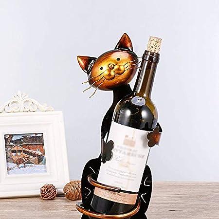 Nosterappou El lindo estante de vino para gatos, que es un estante para vinos, es una decoración para el hogar, llena de estantes para vinos artísticos, gabinetes, adornos para decorar el hogar