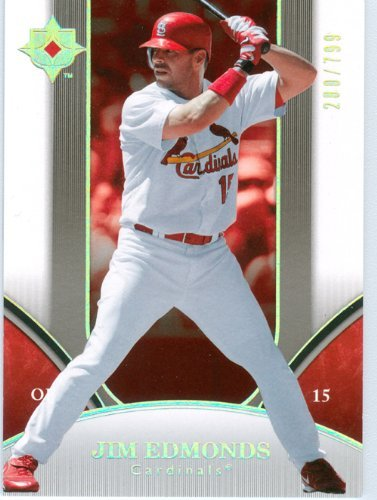 2006 Ultimate Collection Jim Edmonds Baseball Card #'d /799