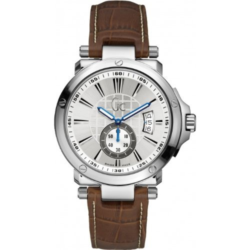 NEW CLASSIC GUESS COLLECTION GC X65006G1S LEATHER GENTS WATCH