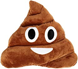 LinTimes Oi Emoji Smiley Emoticon Cushion Pillow Stuffed Plush Toy Doll, Poop Face