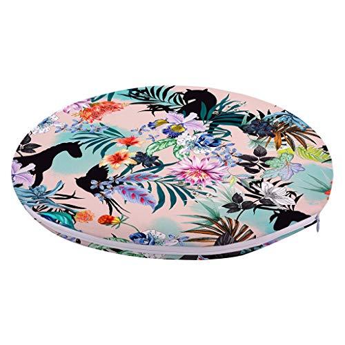 (Vcenty Mat Soft Chair Round Cushion Full Polyester Short Plush Memory Foam Seat Pad Sponge Gel Mat for Home Kitchen Office School Dormitory)