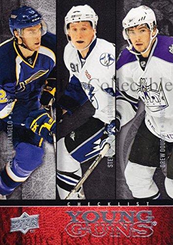 (CI) Steven Stamkos, Alex Pietrangelo, Drew Doughty, Checklist Hockey Card 2008-09 Upper Deck (base) 250 Steven Stamkos, Alex Pietrangelo, Drew Doughty, Checklist