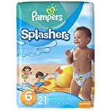 Pampers Splashers Disposable Swim Pants Size 6, 21-Count