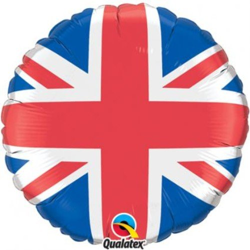 Partyrama Union Jack 18Inch Round Foil Balloon - Single]()