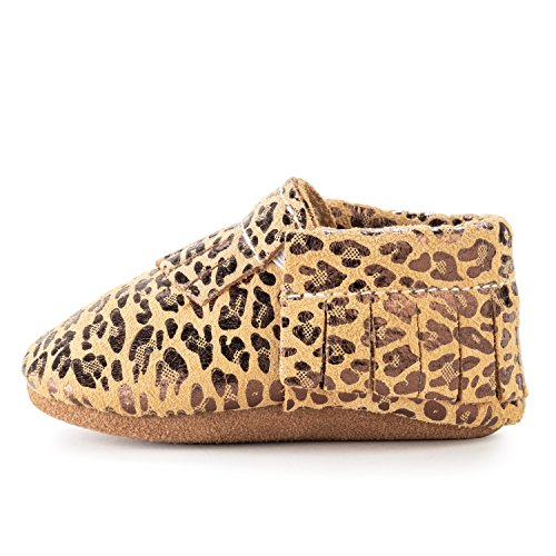 BirdRock Baby Moccasins - 30+ Styles for Boys & Girls! Every Pair Feeds a Child (US 9.5, Leopard)