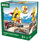 BRIO World - 33280 Freight Goods Station   Toy Train Accessories for Kids Age 3 and Up