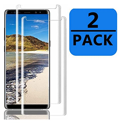 Samsung Galaxy Note 9 Screen Protector - OLINKIT [3D Curved Edge][State of The Art] [Case Friendly] Anti-Scratch Bubble-Free Tempered Glass Film for Galaxy Note9 [2 Pack] by OLINKIT