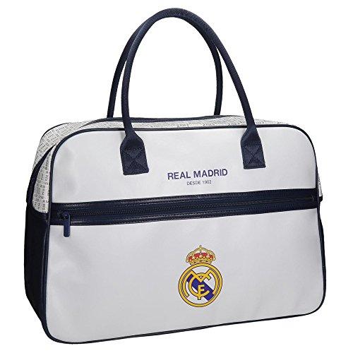 RM Real Madrid White Tasche Henkeltasche Gym Fitness Fahrt Reise