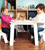 P'kolino Arts and Craft Table with 2 Kid-Friendly Benches