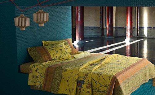 Fong Gelb V9 Bassetti Bettbezug 155 X 220 Cm Bettwäsche 90 Cm X 200