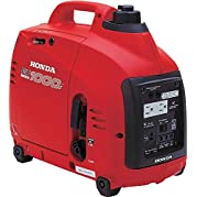 Honda EU1000i Inverter Generator, Super Quiet, Eco-Throttle, 1000 Watts/8.3 Amps @ 120v (Red)
