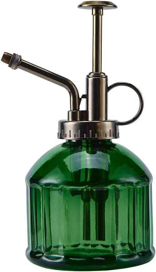 "Ebristar Glass Plant Mister Spray Bottle, 6.5"" Tall Vintage Plant Spritzer Watering Can, Succulent Watering Bottle with Top Pump, Small Plant Sprayer Mister for Indoor Outdoor House Plant - Dark Green : Garden & Outdoor"