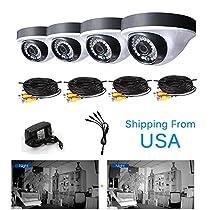 Gaintree 4PCS 720P AHD CCTV 1.0MP Cameras Night Vision Home Security Surveillance System Weatherproof Night Vision