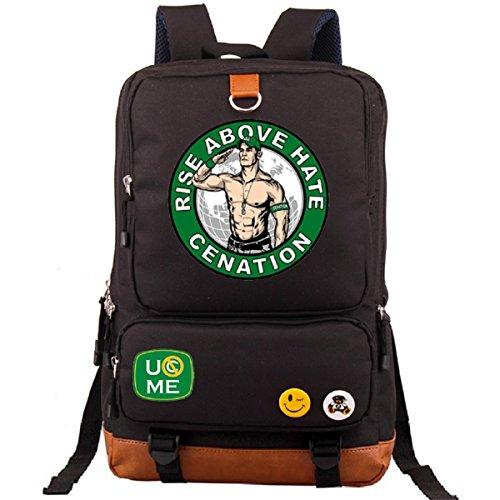 AUGYUESS WWE Cosplay School Bag Daypack Shoulder Bag Bookbag Backpack (2) by AUGYUESS
