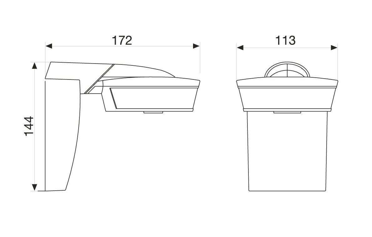 Steinel Bewegungsmelder sensIQ silber, 2500 W, 300° |20 m Sensor, in 3 Richtungen regelbar, Eckwandhalter, Fernbedienung 029586