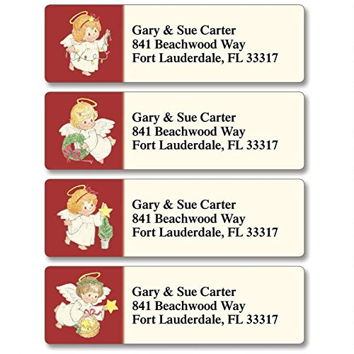 Baby Angels Self-Adhesive, Flat-Sheet Classic Address Labels (4 Designs)
