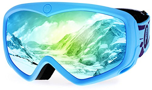 - picador Ski Goggles Over The Glasses with Anti-Fog UV400 Protection Lens for Youth and Kids (Blue)