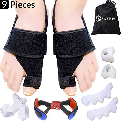 Bunion Corrector & Bunion Relief Kit, Bunion Splint, Big Toe Corrector Straightener Brace, Toe Separators Spacers Straighteners, Hammer Toe, Hallux Valgus, Toe Joint Pain Relief Aid for Men & Women ()