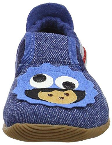 Giesswein Salzburg, Zapatillas de estar Por Casa Unisex Niños Azul (Jeans)