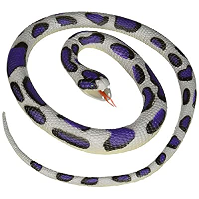 Wild Republic Blue Rock Rubber Snake Toy, Gifts for Kids, Educational Toys, 46