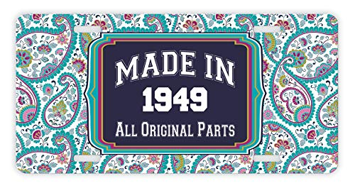 70th Birthday Gifts Made 1949 All Original Parts Paisley Funny For Grandma Novelty