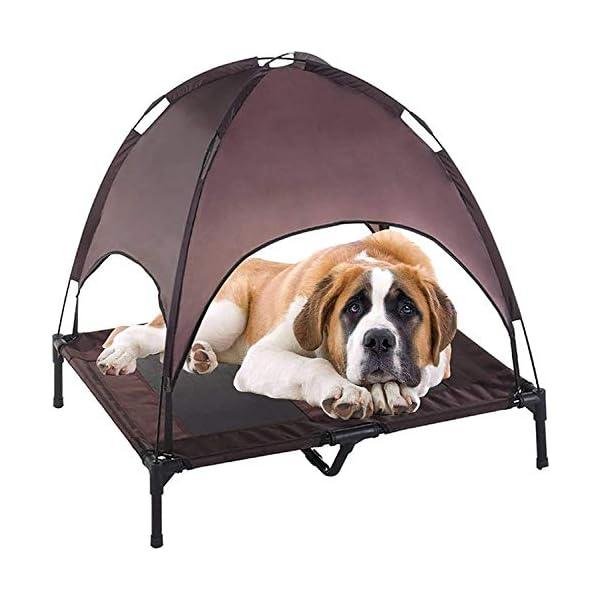 511CELTv5kL Jolitac Hundeliege mit Dach Hundebett Baldachin Schlafplatz Hundesofa Hunde Liege Haustierbett Katzenbett 3 Maße 2…