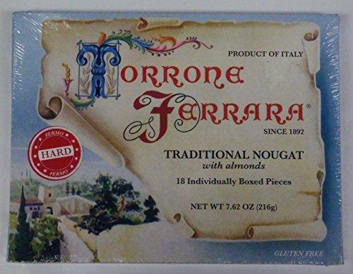 Ferrara Traditional Retro Hard Torrone Nougat with Almond...