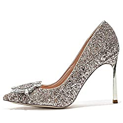 Women's Stiletto Crystal Pointed Toe High Heels