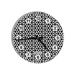 TooLoud Tetra Circle Tesseract 8 Round Wall Clock with Numbers All Over Print