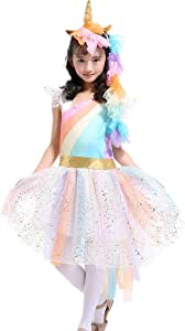 FamyFirst Disfraz de Unicornio arcoíris Disfraz de Unicornio de ...