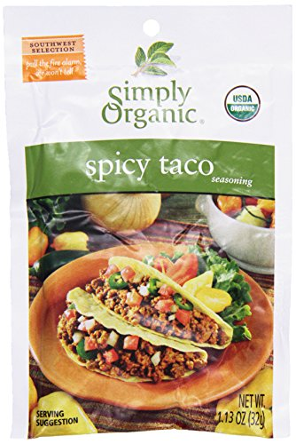 Simply Organic Season Mix-spcy Taco, 1.13 oz (Mix Seasoning Taco Spicy)