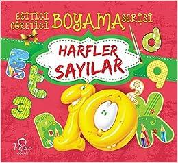 Egitici Ogretici Boyama Serisi Harfler Sayilar Kolektif