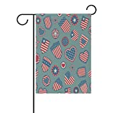 Cheap EVERUI Seasonal Garden Flag Double Sided USA Symbols for Home Decorative and Outdoors Wedding 28 x 40